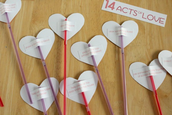 Gluing Valentine's Day Cards