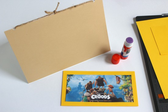 Gluing picture to a scrapbook