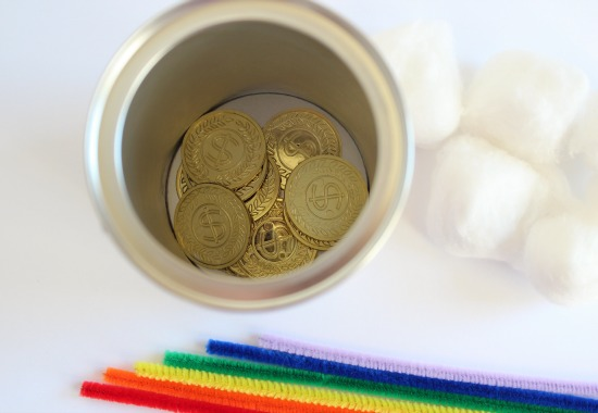 Gold Coins for Rainbow in a Can