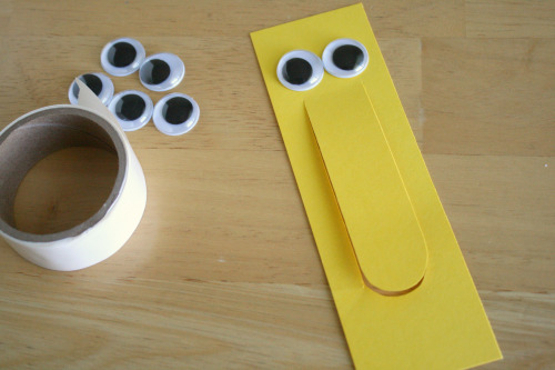 Googley Eyes for a Bookmark