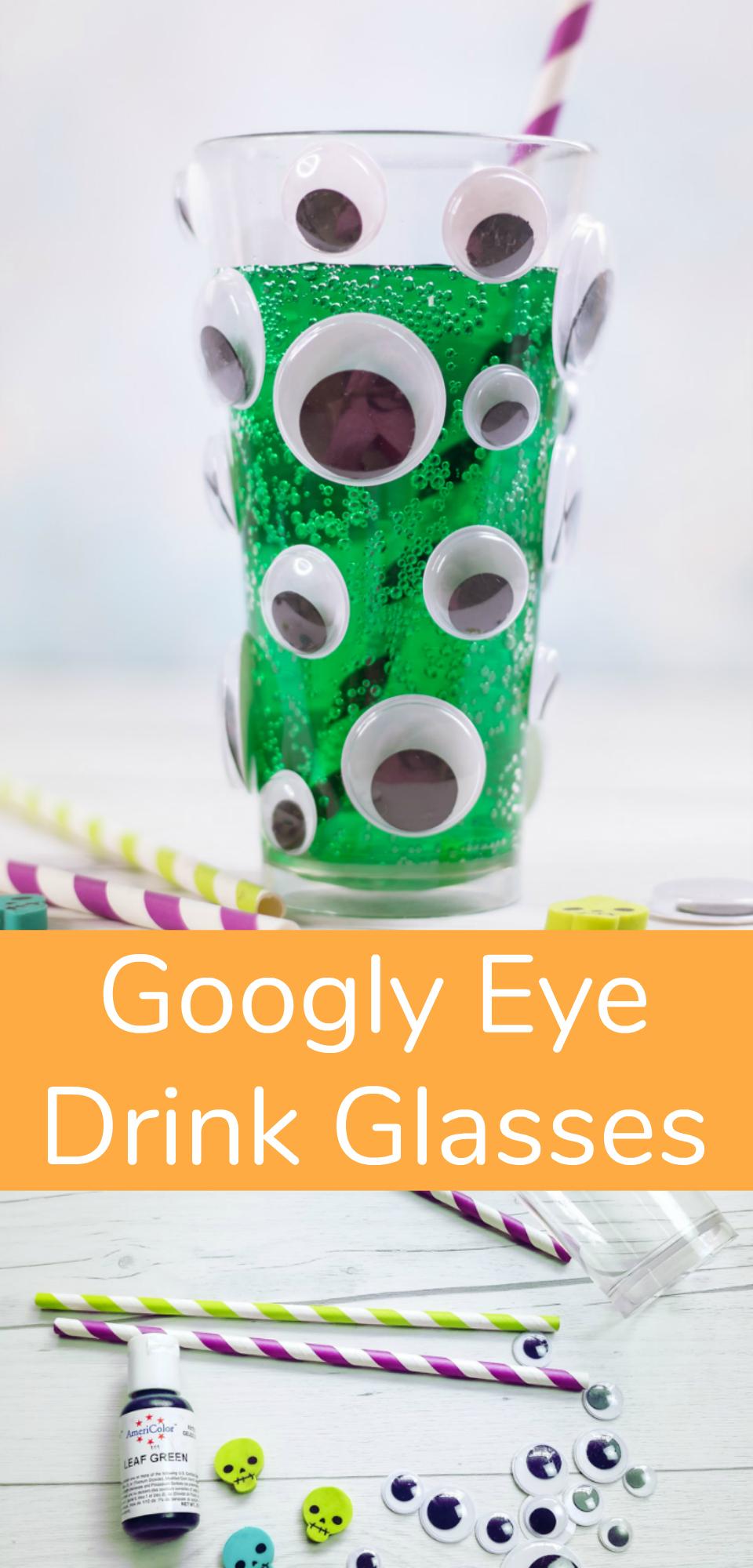 Googly Eye Drink Glasses for Halloween
