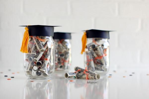 Graduation gift idea tiny dollar diplomas