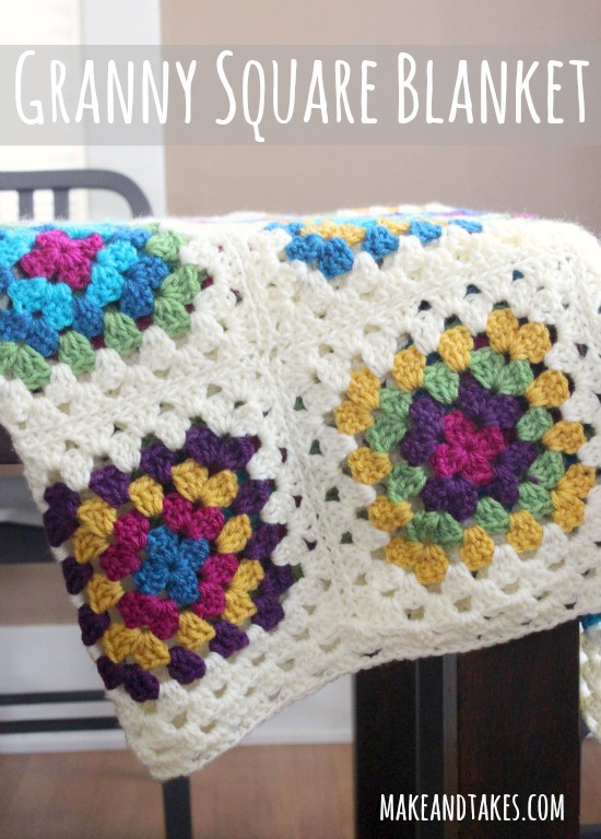 Crocheting Granny Squares Together Video : Granny Square Blanket Tutorial at makeandtakes.com