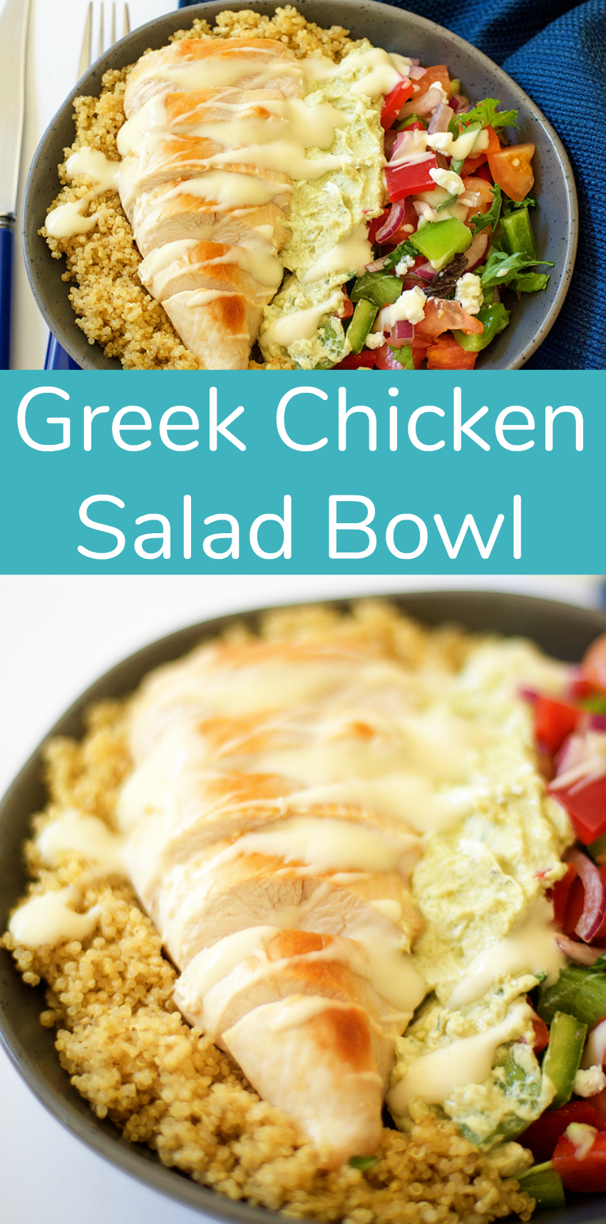 Greek Chicken Salad Bowl for a Simple Dinner