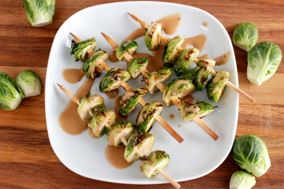 Grilled Brussel Sprout Kabobs