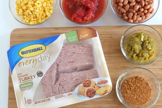 Ground Turkey Chili Ingredients