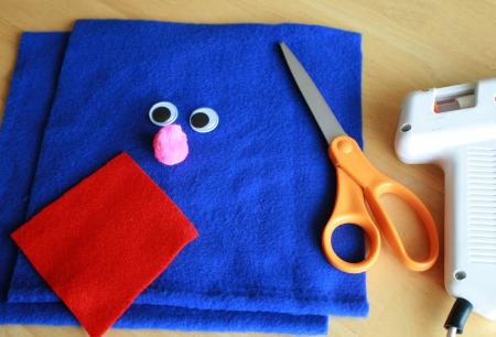 Grover Hand Puppet Craft Supplies
