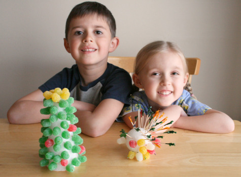 Gumdrop Tree Craft with Kids