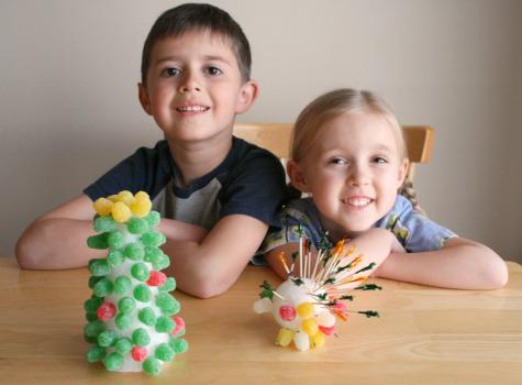 Gumdrop Tree Craft with Kids