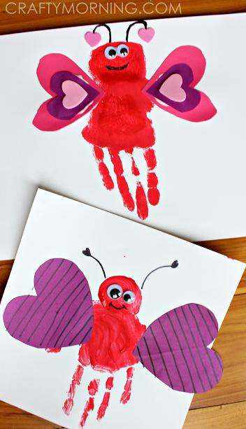 Handprint Love Bug Craft