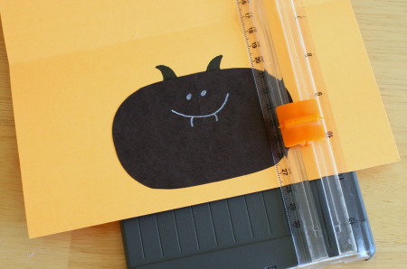 Halloween Bat Card