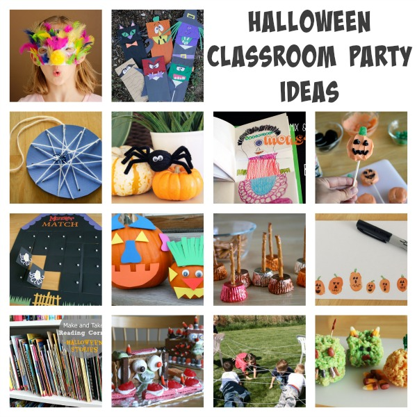 Classroom Party Ideas ~ Simple ideas for your halloween class party make and takes