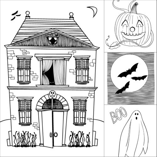 169166529725871755 as well 5 also Halloween Plans likewise Coloring Book together with . on scary drawings of rooms