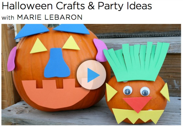 Halloween Crafts and Party Ideas with Marie LeBaron