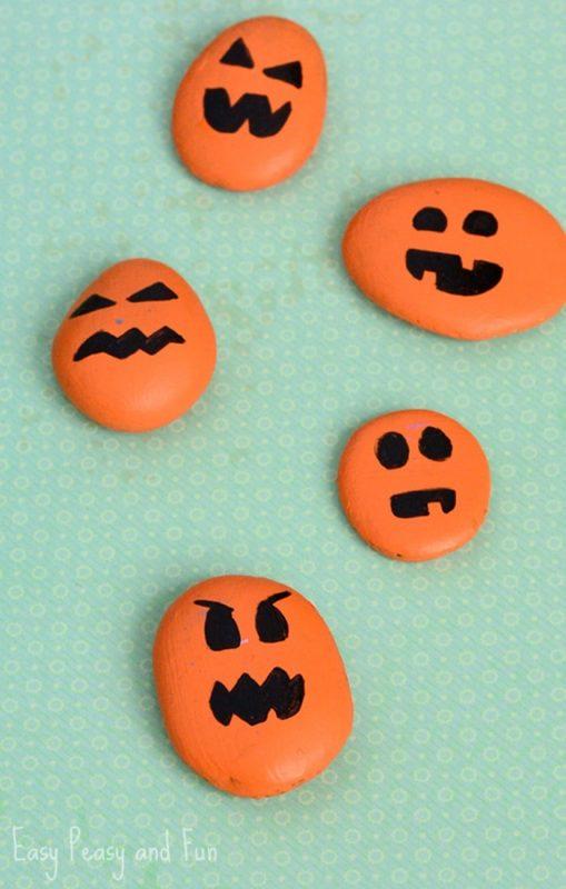 Painted Pumpkin Rock Craft