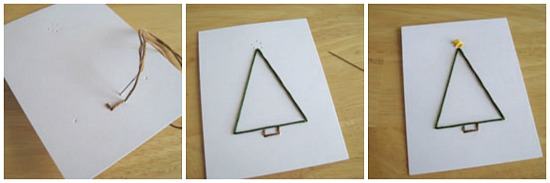 Hand-Stitched Christmas Tree Embroidery Card How to