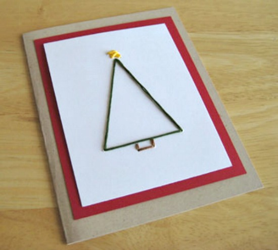 Christmas Tree Card Pattern