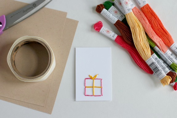 Hand-Stitched Embroidery Gift Tags