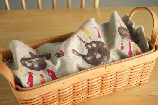 Handmade Bread Basket Liner