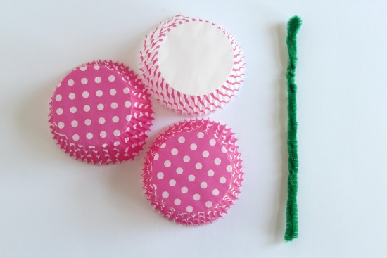 Handmade Cupcake Liner Flowers