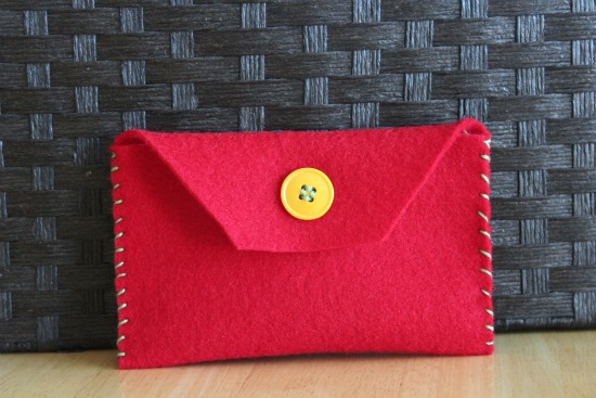 Handmade Holiday Felt Envelopes
