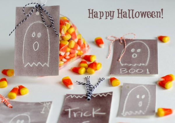 Happy Halloween Watercolor Gift Tags @makeandtakes.com