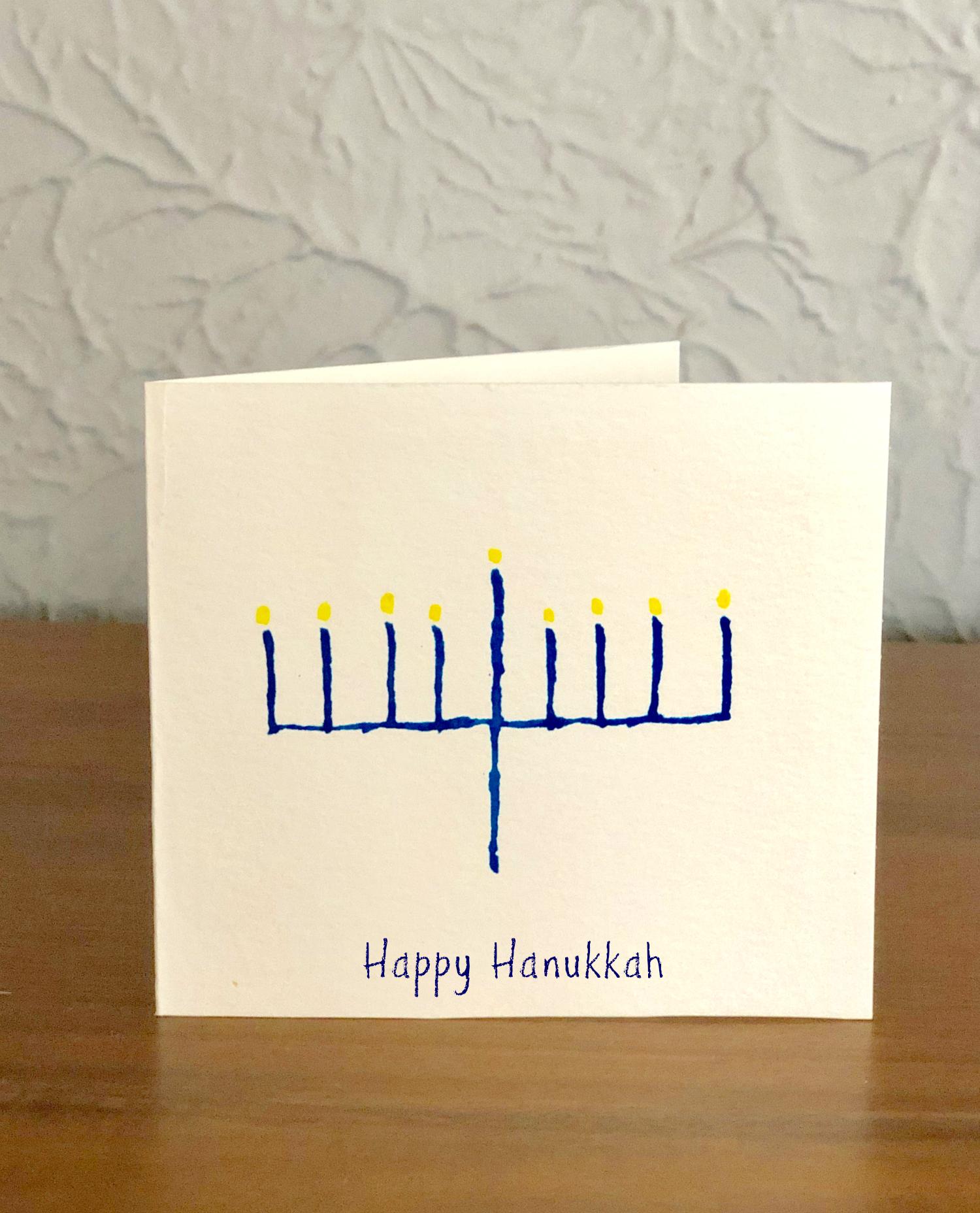 Happy Hanukkah Watercolor Cards