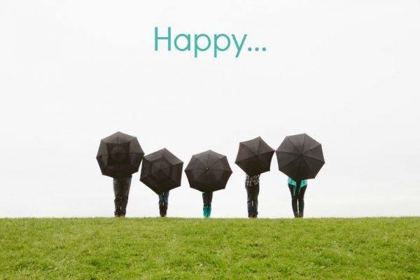 Happy Seattle Umbrellas
