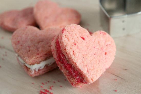 Valentine Heart Cookie Sandwiches