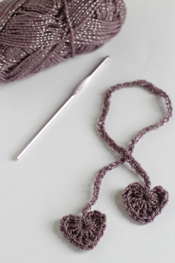 Heart Crochet Chain Stitch Wrapping Ribbon