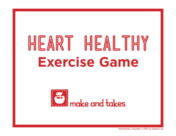 Heart Healthy Exercise Game Free Printable