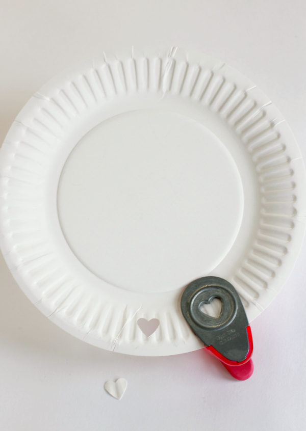 Heart Hole Punch for Valentine's Day Plates