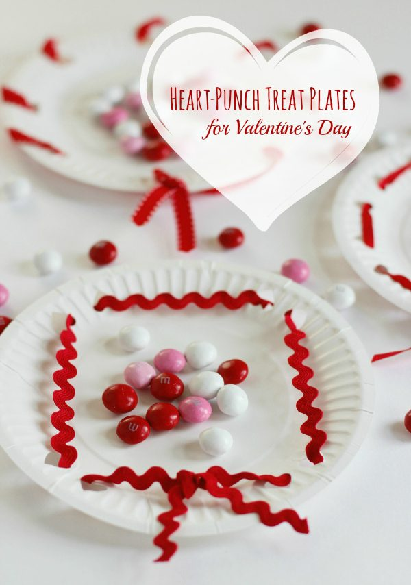 Heart-Punch Treat Plates for Valentine's Day