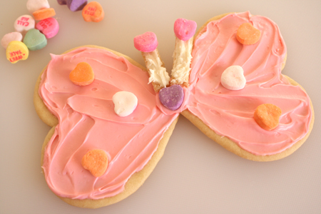 Heart Shaped Butterfly Cookie