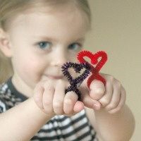 Heart Pipe Cleaner Rings