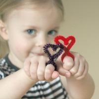 Heart Pipe Cleaner Rings
