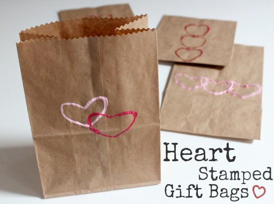 Heart Stamped Gift Bags makeandtakes.com