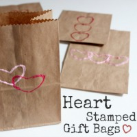 Heart Stamped Gift Bags