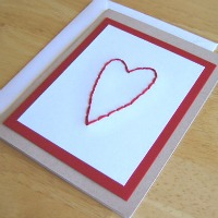 Heart Stitched Greeting Card