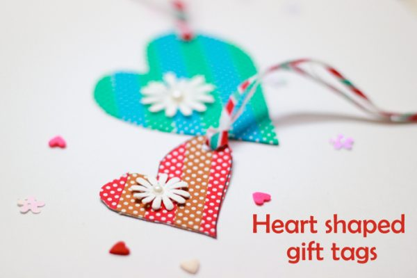 Add a sweet, personal touch to Valentine's day favors and gifts with our easy to make heart shaped gift tags.