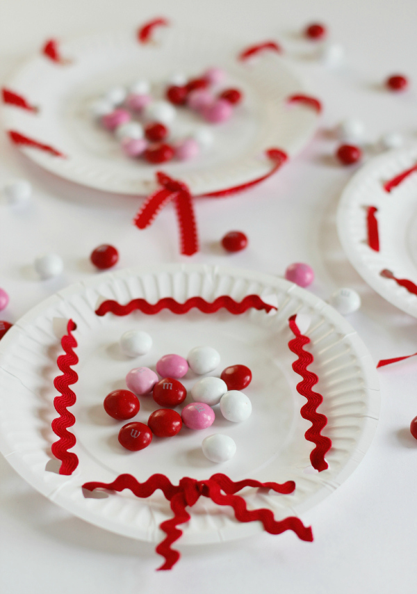 Heart Valentine's Day Treat Plates