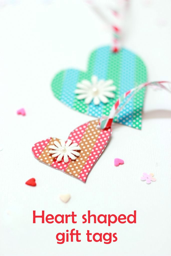 Heart shaped gift tags