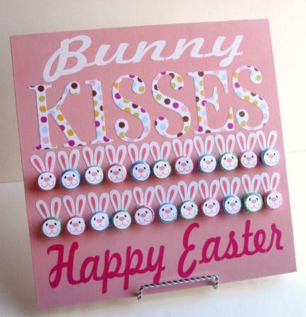 Hershey Kiss Bunny Board