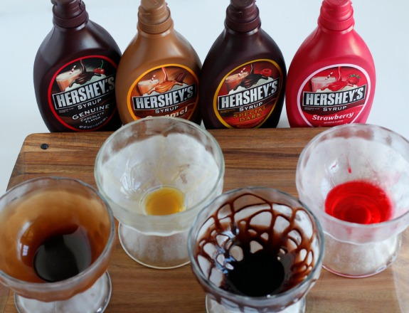 Hershey's Syrup Frozen Dish Ice Cream Sundaes