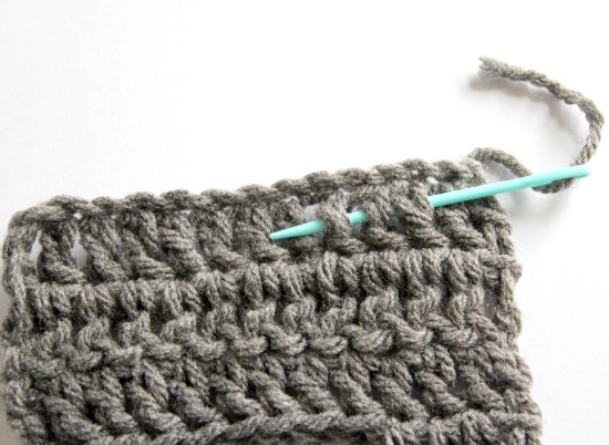 Hiding the tail in crochet