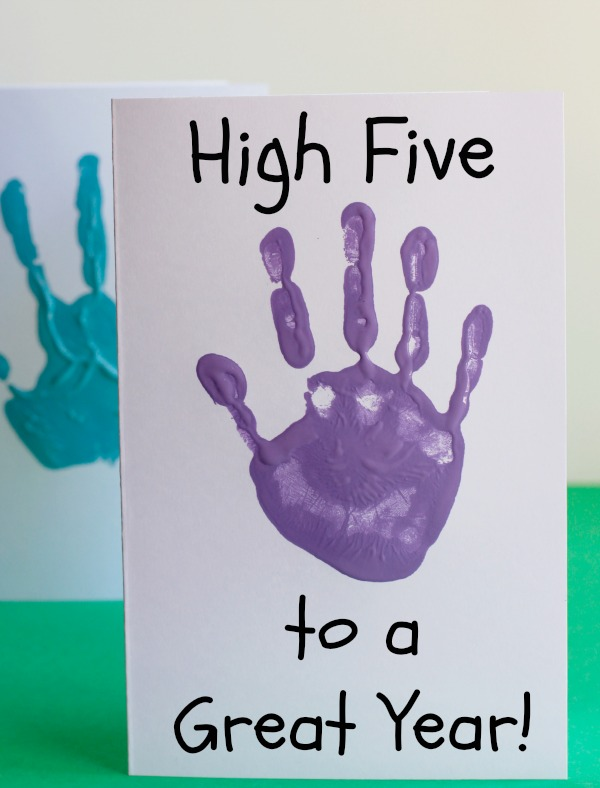 High Five to a Great Year Card