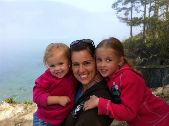 Hiking with Kids and View