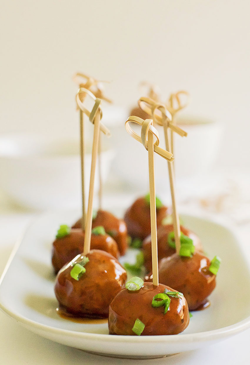 Hoisin Glazed Mini Meatballs recipe