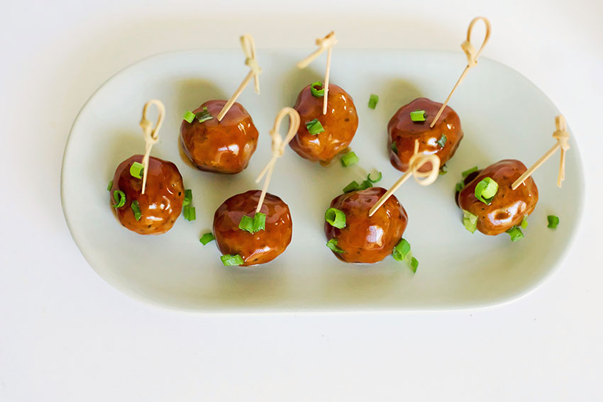 Hoisin Glazed Mini Meatballs