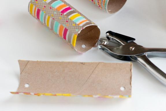 Hole Punch Recycled Paper Tubes